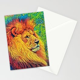 AnimalColor_Lion_003_by_JAMColors Stationery Cards