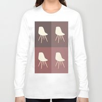 eames Long Sleeve T-shirts featuring Eames x 4 #1 by bittersweat
