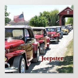 Jeepster Line Up Canvas Print