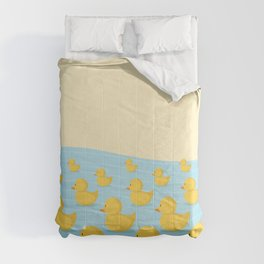 Rubber Duckie Army Comforters