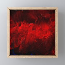Red And Black Luxury Abstract Gothic Glam Chic by Corbin Henry Framed Mini Art Print