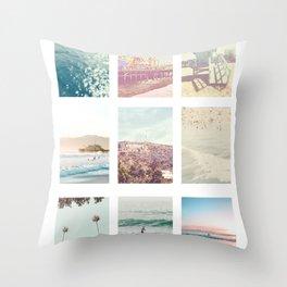California Dream 9 Photo Print Throw Pillow