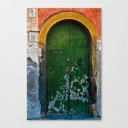 Magic Green Door in Sicily Canvas Print