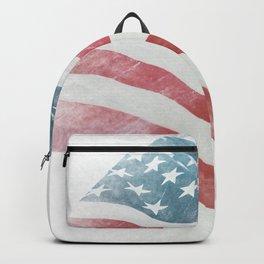 American Flag 4 #freedom #patriotic  Backpack