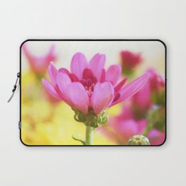 Pink mum with peack background Laptop Sleeve