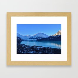Tasman Glacier Valley Framed Art Print