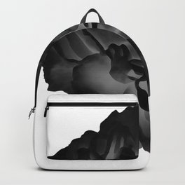 Black peony Backpack