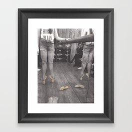 Point Shoes Framed Art Print