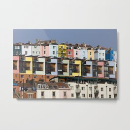 Coloured Houses Metal Print