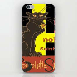 Le Chat Noir De Saint David De Rodolphe Salis iPhone Skin