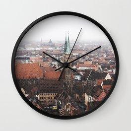 Snow in Nuremberg Wall Clock