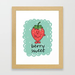 Berry Sweet Framed Art Print