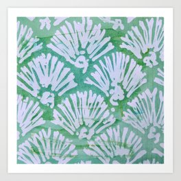 GREEN BATIK 2 Art Print