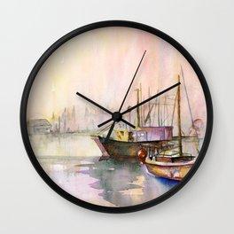 2 Boats Wall Clock