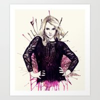 britney Art Prints featuring Britney by Mibou