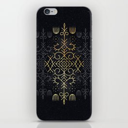Golden Echo iPhone Skin