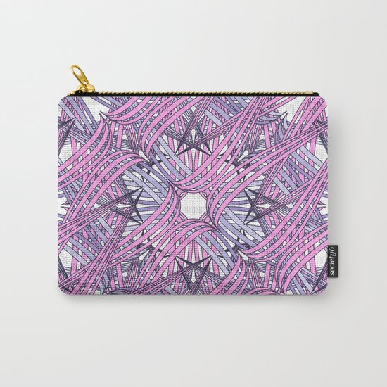Web in pink and grey Carry-All Pouch