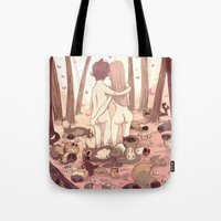 guinea pig Tote Bags featuring guinea pig paradise by szerk