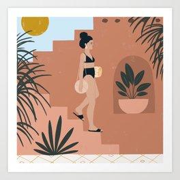 buscando la playa Art Print
