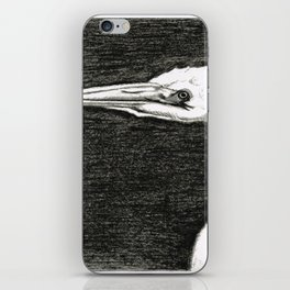White Egret Art - The Great One - By Sharon Cummings iPhone Skin