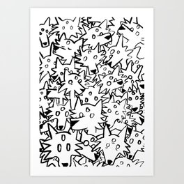 three eyed wolfpack Art Print