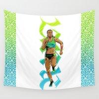run Wall Tapestries featuring Run by Akyanyme