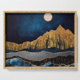 Midnight Desert Moon Serving Tray