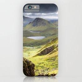 Quiraing on Isle of Skye in Scotland iPhone Case