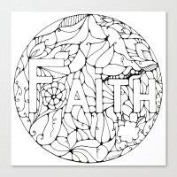 faith Canvas Prints featuring Faith by Gosia&Helena