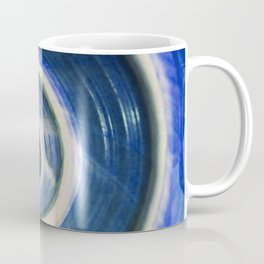 Blue and white spiral shell Coffee Mug