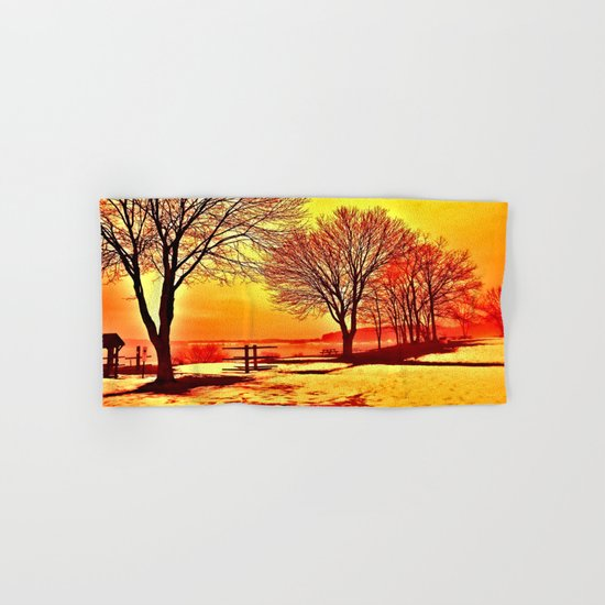 Autumn Lake Hand & Bath Towel