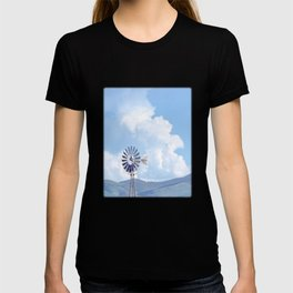 """Blue Windmill Blue Sky"" by Murray Bolesta T-shirt"