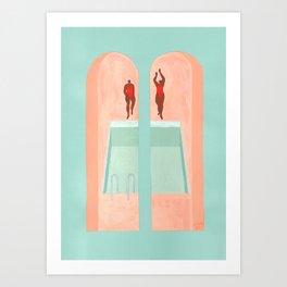 Les Nageuses Art Print
