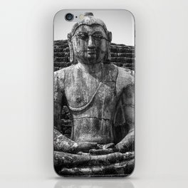 Buddha statue seated around stupa of The Polonnaruwa Vatadage iPhone Skin