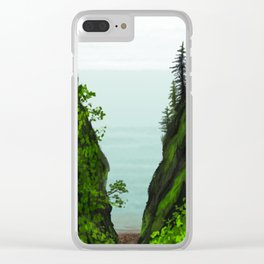 cape split Clear iPhone Case