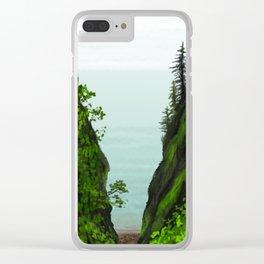 cape split Clear iPhone Case