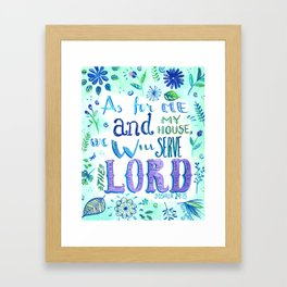 Purple and Blue Bible Verse Framed Art Print