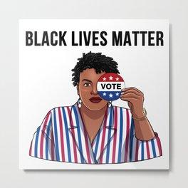 Black Lives Matter Vote Metal Print
