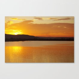 Sunset In The Village Canvas Print