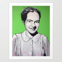 parks Art Prints featuring Rosa Parks by Andrea Tardivo