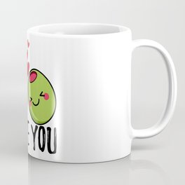Olive You | I Love You | Valentine's Day Heart Coffee Mug