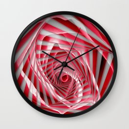 Pink Rose Spiral Wall Clock