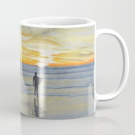 Dog Beach Surfer Coffee Mug