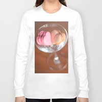 macarons Long Sleeve T-shirts featuring Valentine macarons by Nina's clicks