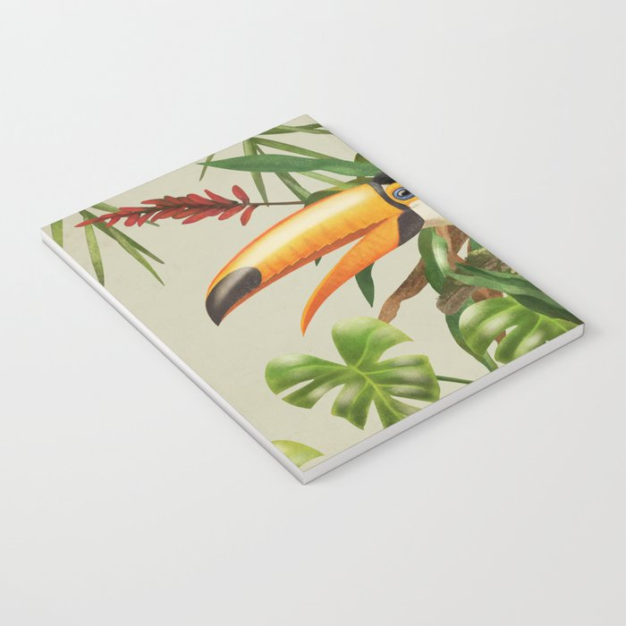 Toco Toucan vintage illustration. Notebook