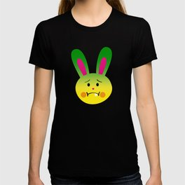 One Tooth Rabbit Emoticons Nauseated Bunny Face T-shirt