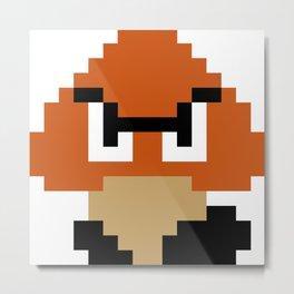 Pixel Goomba- Super Mario Bros. Metal Print