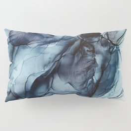 Blush and Darkness Abstract Paintings Pillow Sham