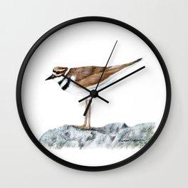 Killdeer Art 1 by Teresa Thompson Wall Clock