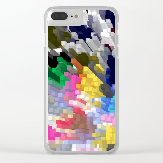 Colorful Skyscrapers Clear iPhone Case